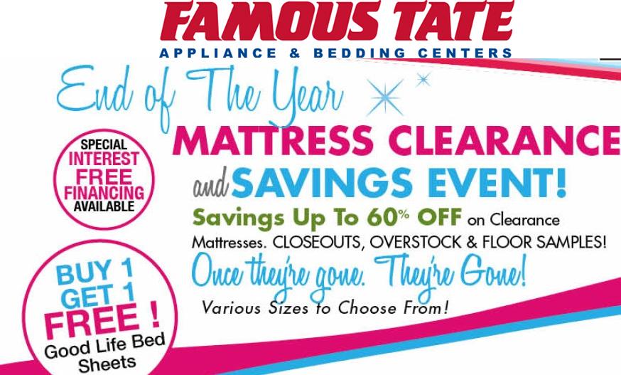 Famous Tate Mattress Clearance